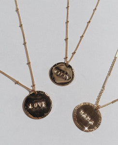 'Mama' Coin Necklace