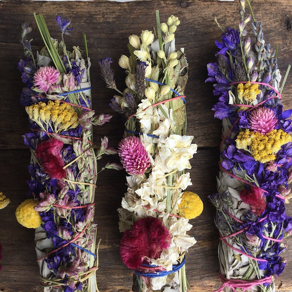 Large Wildflower Sage Wands
