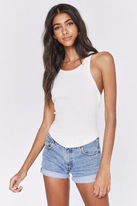 Light Lena Rib Tank - Stone