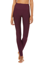 High Waist Airlift Black Plum
