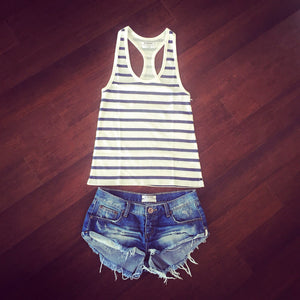 Ribbed Stripped Tank