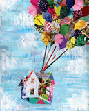 Up house wall art print by Artpoptart