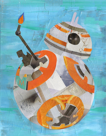 bb8 wall art by Lauren Hoffman