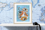 Star Wars BB8 Art