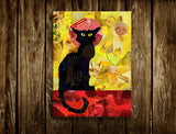 Black Cat Wall Art Print