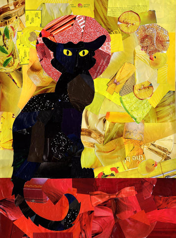 Black Cat Art Print by Artpoptart