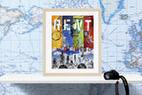 Musical Rent wall art print