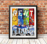 Rent wall art print