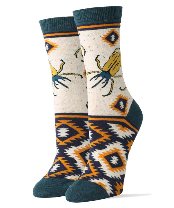 Beetle Herb- Women's Crew Socks