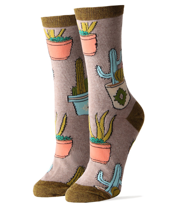 Cactus Hugs- Women's Crew Socks