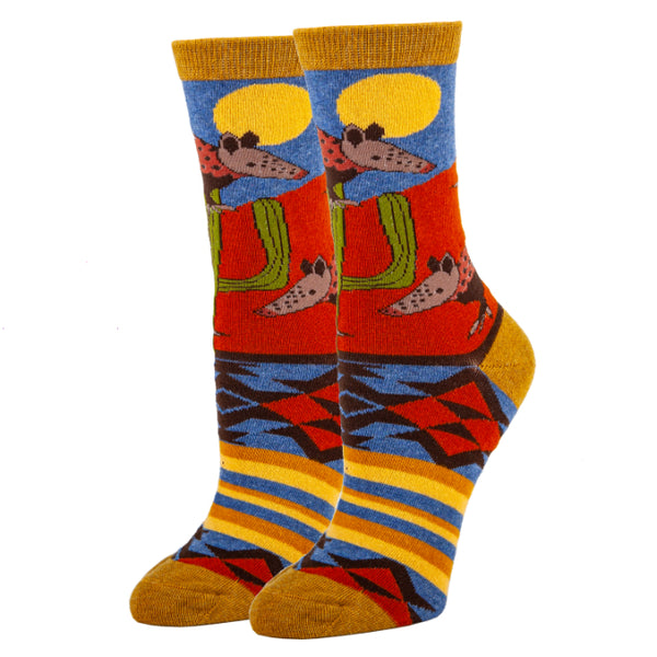 Armadillo Rodeo- Women's Crew Socks