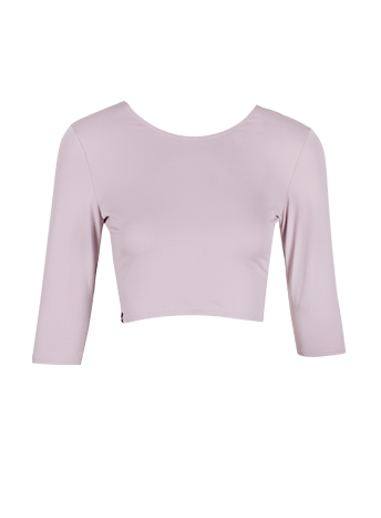 Mauve 3/4 Sleeve Crop Top