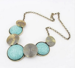 Star Maxi Geometric Thread Statement Necklace
