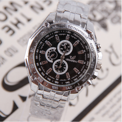 Mens Top Quality Luxury Stainless Steel Waterproof Wrist Watch