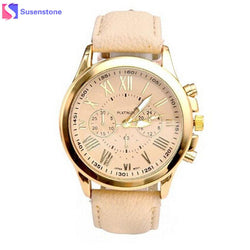 Luxury Leather Brand Women's Analog Quartz Wrist Watches