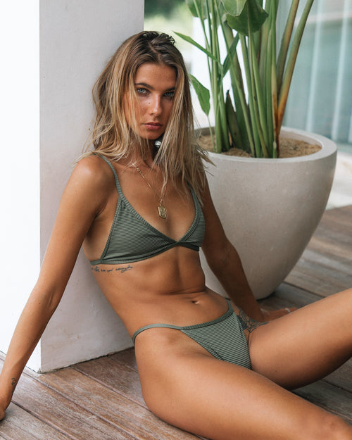 KENDALL BOTTOMS / OLIVE RIB