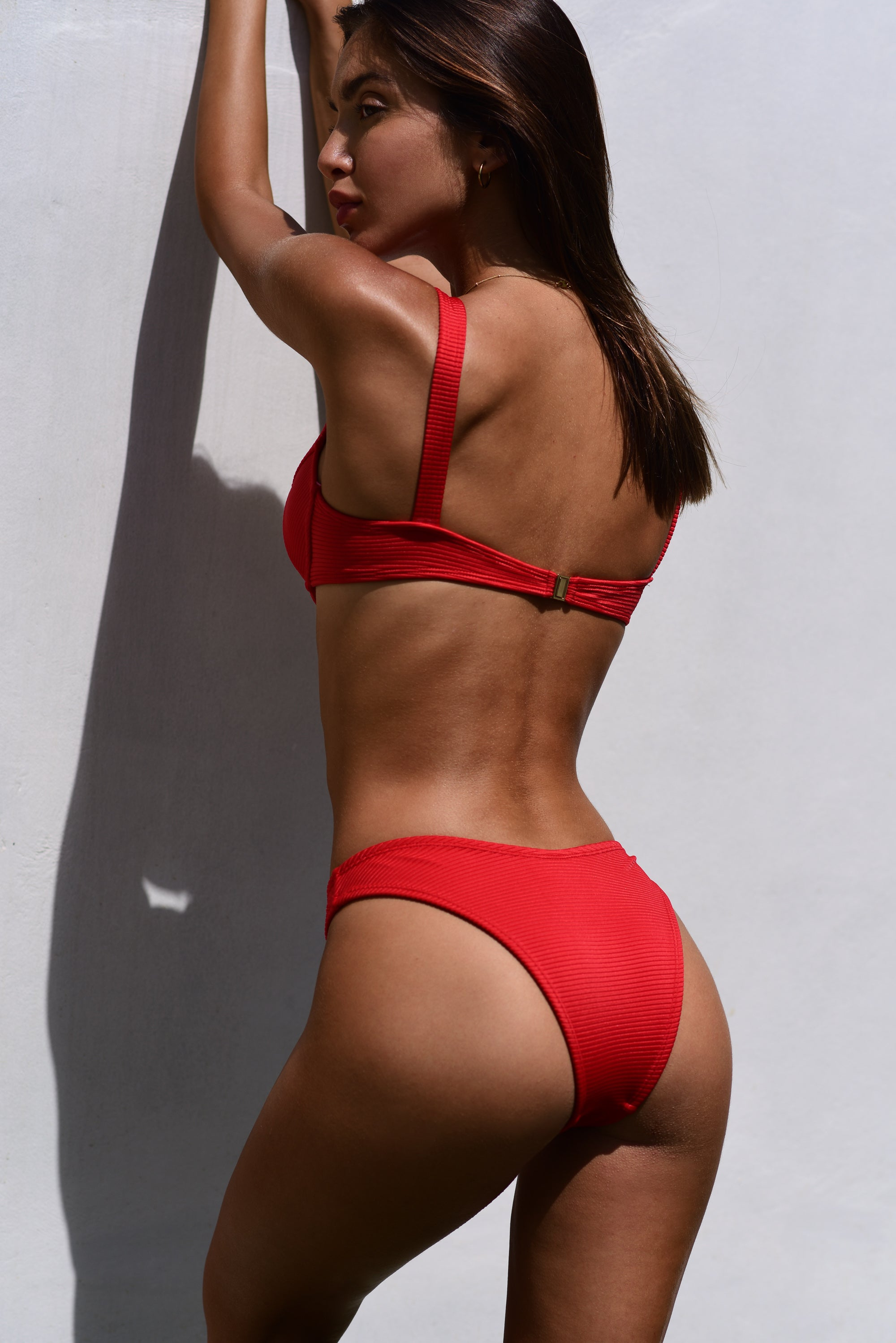 MACI BOTTOM / RED RIB