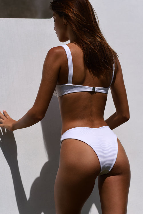 MACI BOTTOM / WHITE RIB