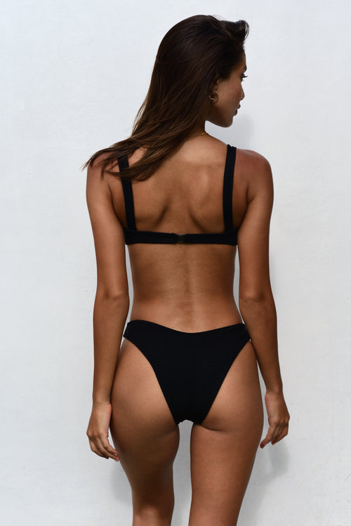 MACI BOTTOM / BLACK RIB