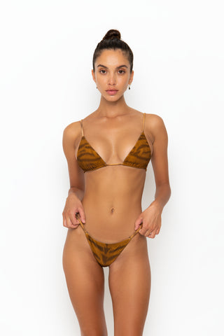 ALANI BOTTOM - BROWN SNAKE RIB