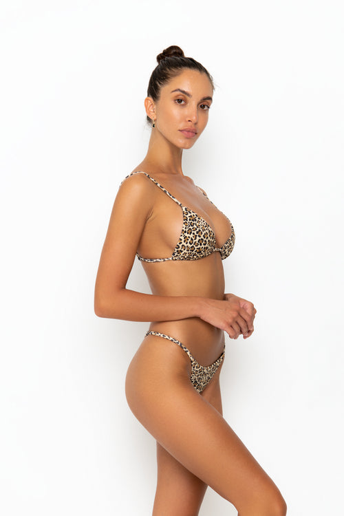 ALANI BOTTOM - LEOPARD RIB