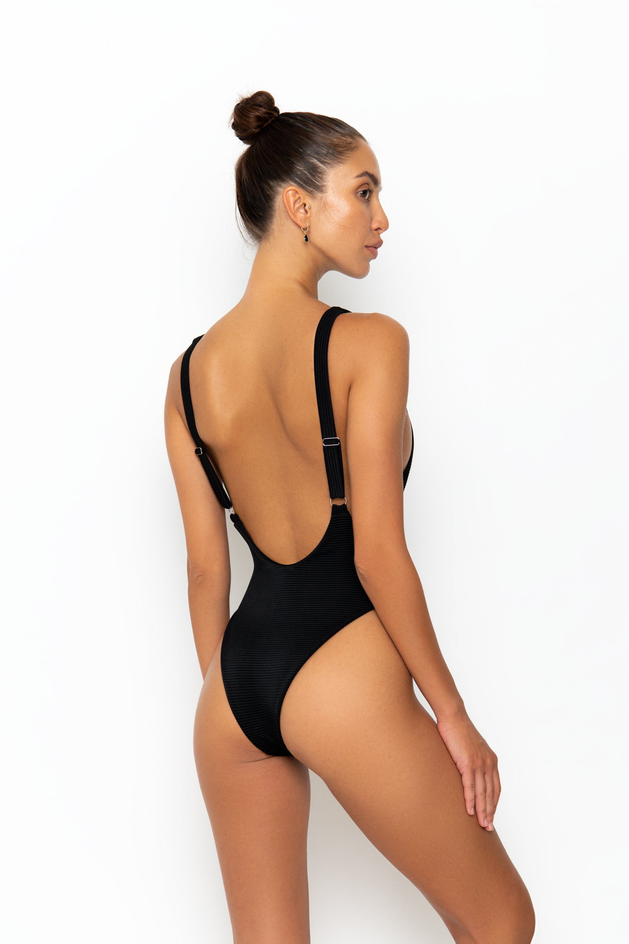AFIA SWIMSUIT - BLACK RIB