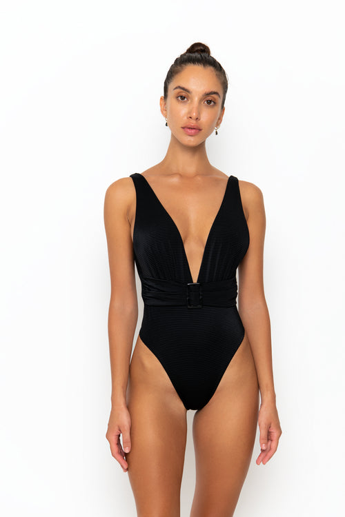ADISA SWIMSUIT - BLACK RIB