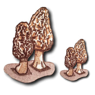 Iron-On Morel Mushroom Patches - Native Morels