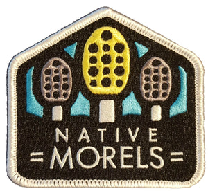 NATIVE MORELS LOGO IRON ON PATCH - Native Morels