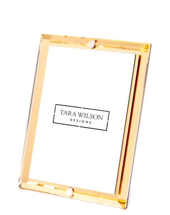 Gold mirror beveled acrylic frame