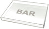 Bar tray - white with silver glitter