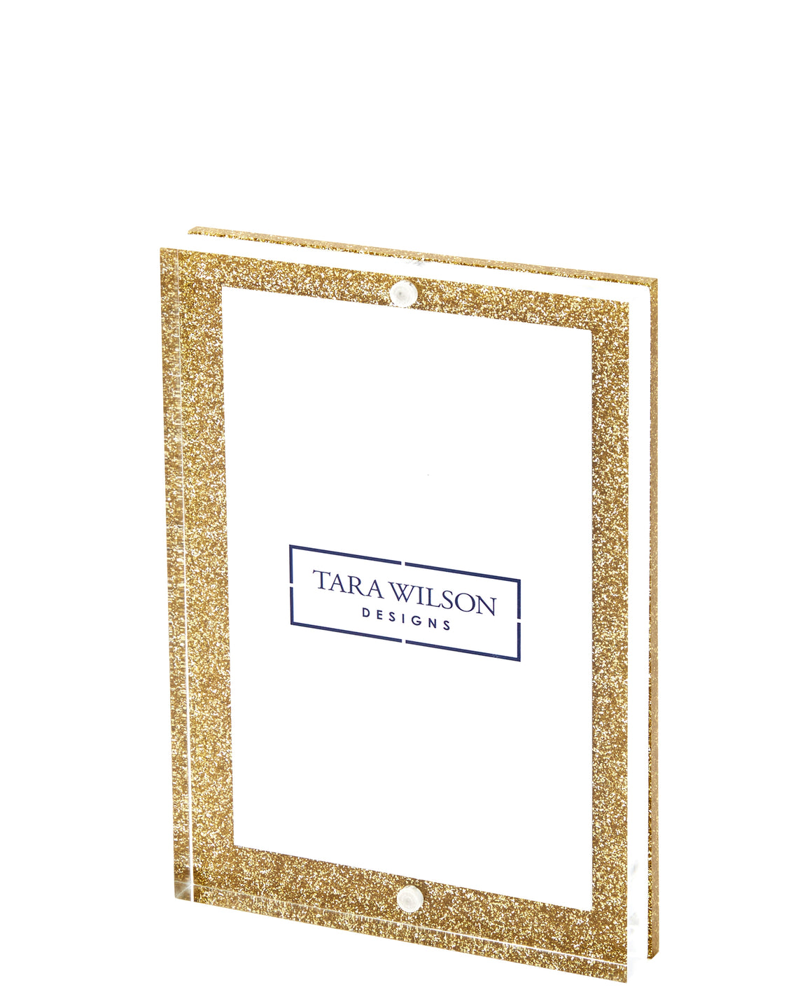4 x 6 gold glitter acrylic / lucite frame magnets