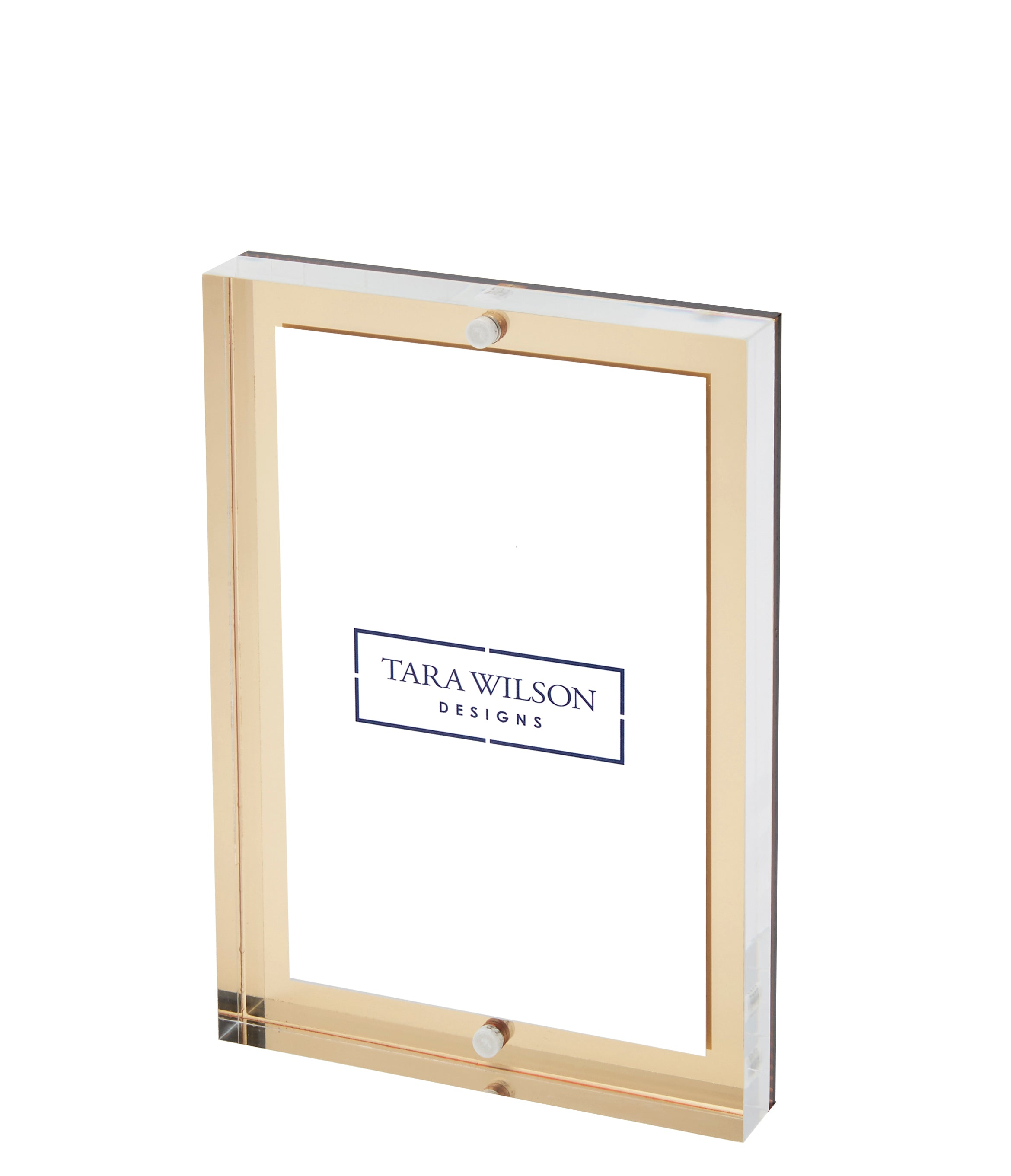 Gold Mirror 4 x 6 thick block frame actual size 5 x 7