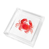 Cocktail napkin holder - crab