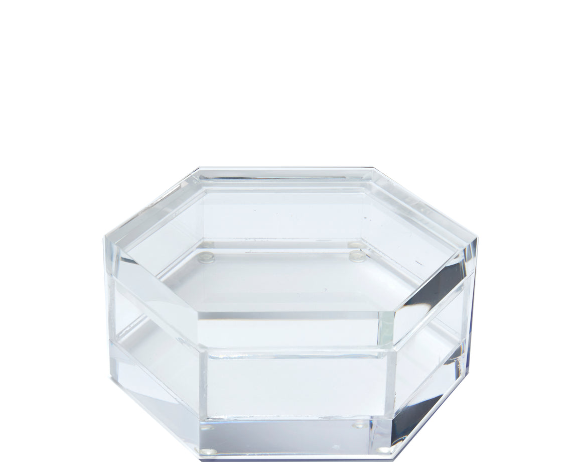 acrylic box hexagon, clear acrylic box