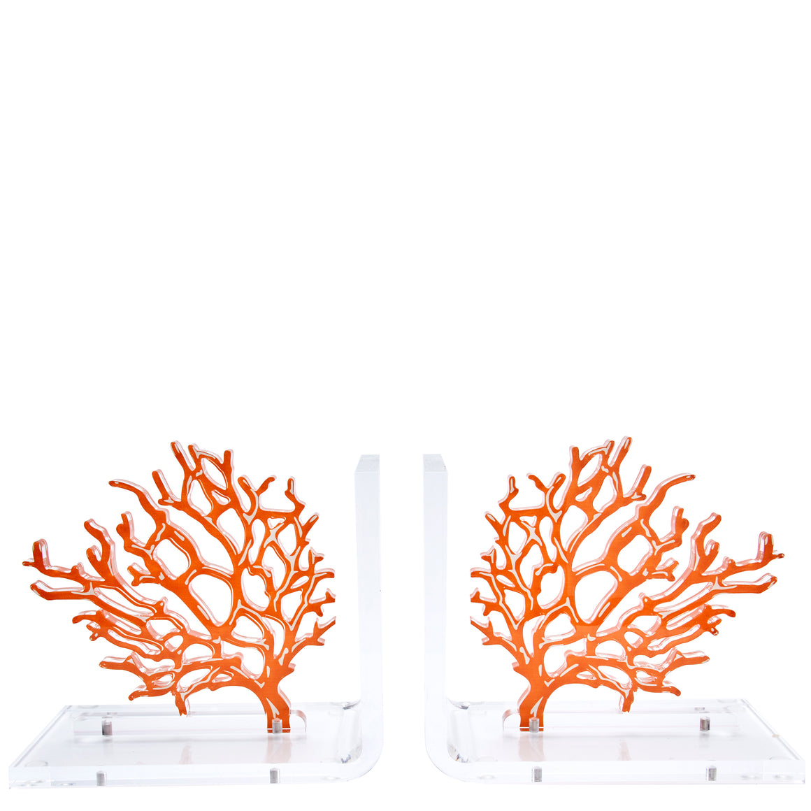 Coral bookends