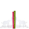 Silver mirror elephant bookends