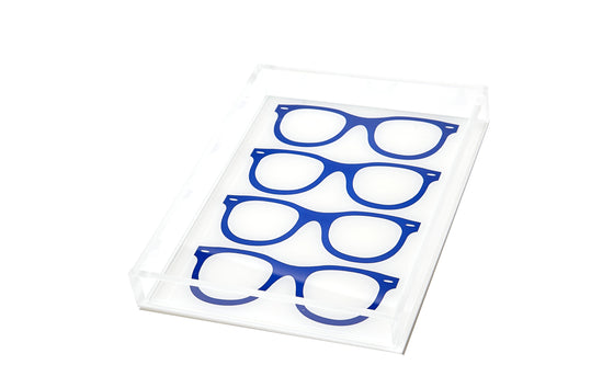 Blue glasses tray