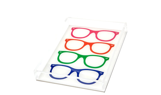 Multi-color glasses tray