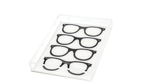 Black glasses tray