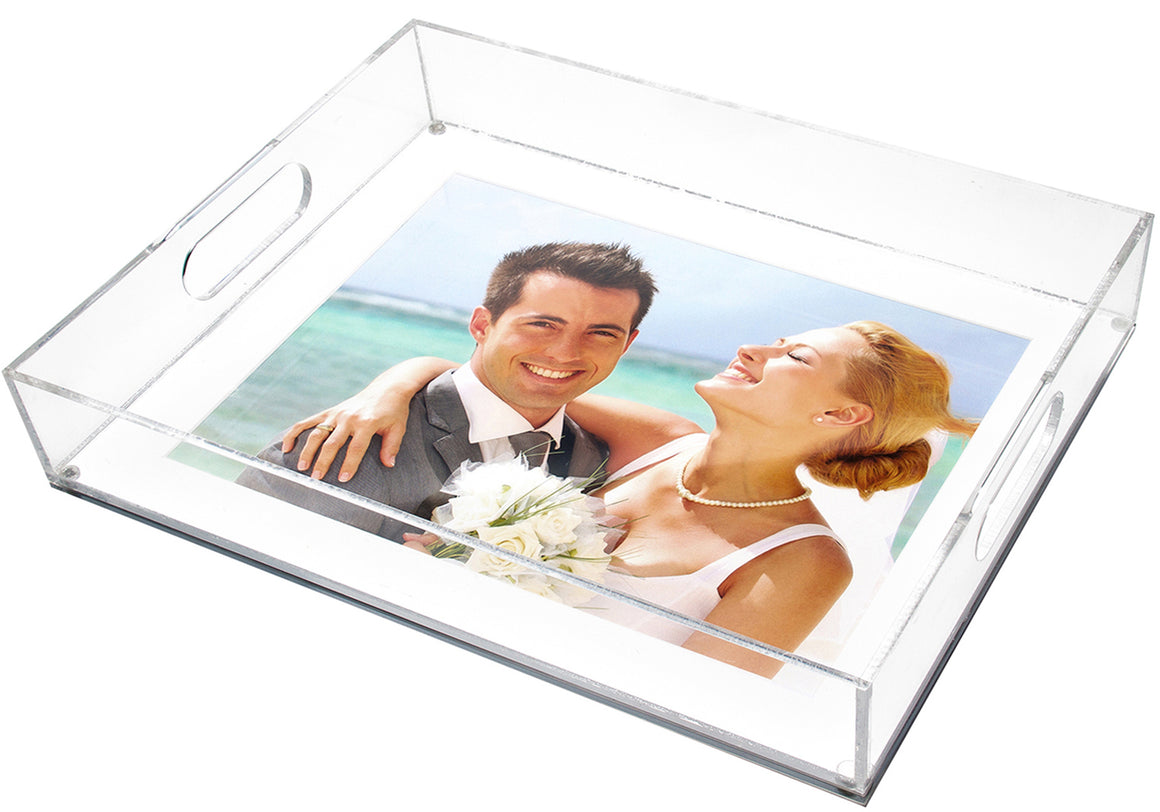 Large photo tray - white mat