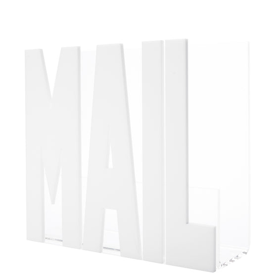 Mail holder - white