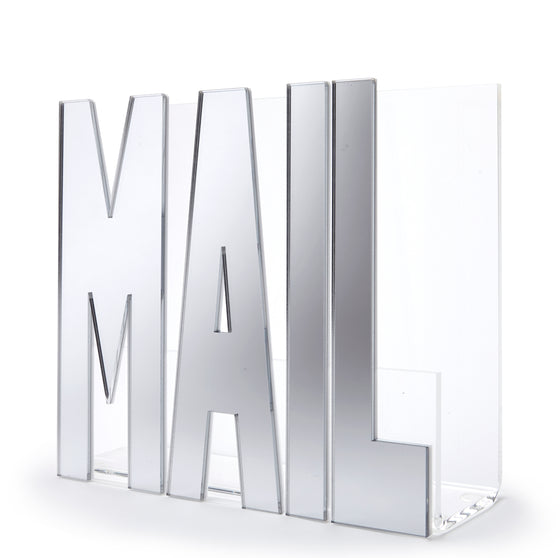 Mail holder - silver mirror