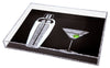 Martini Shaker and Glass Tray
