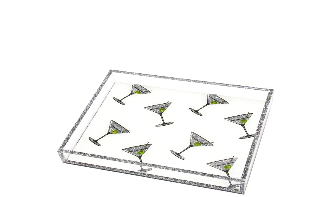 Martini Tray white background - small tray