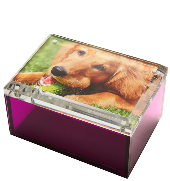 Medium photo box - amethyst