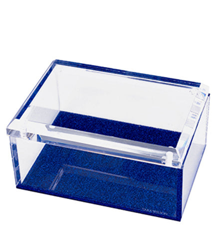 Medium Box - Blue Glitter