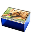 Medium photo box - sea glass blue