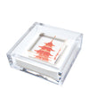 Pagoda cocktail napkin holder  - multiple color options
