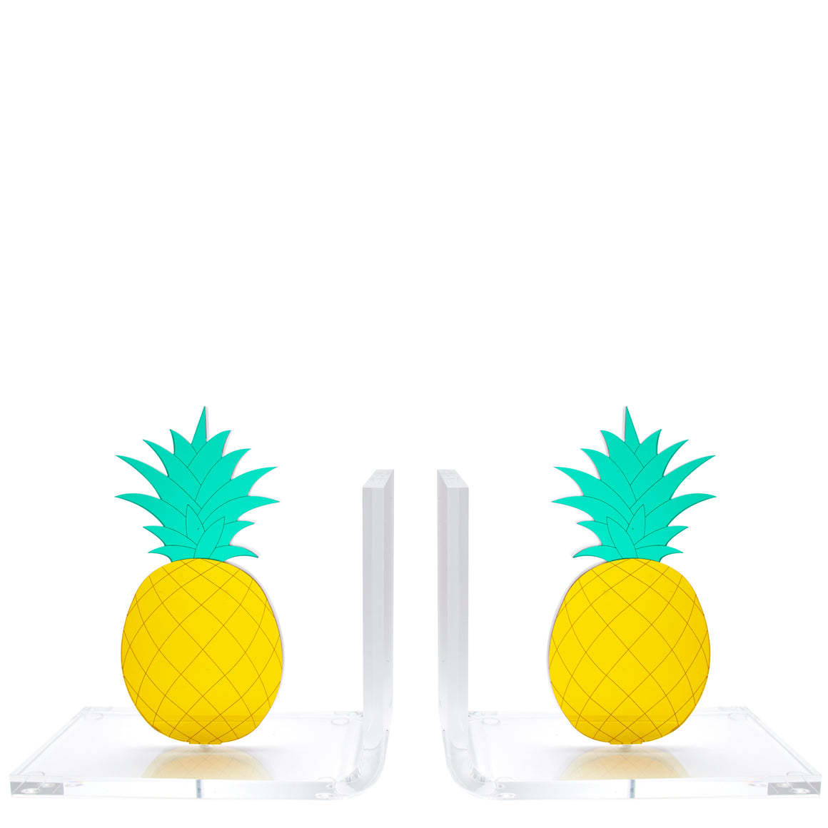 Mirrored Pineapple bookends